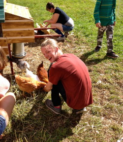 Students visited the animals at Four Foxes Farm in Woody Creek.