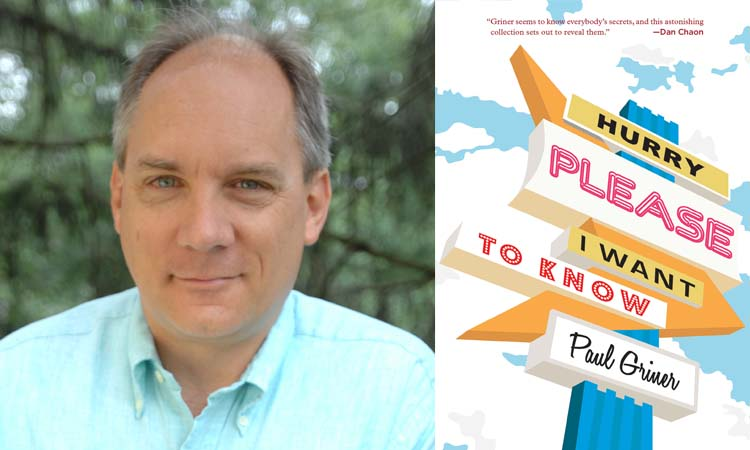 MEET WRITER IN RESIDENCE PAUL GRINER: July 19