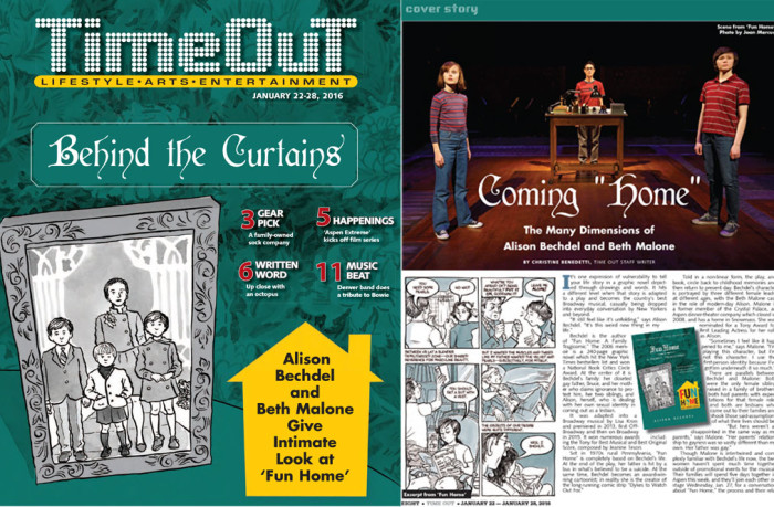 Time Out-Beth Malone + Alison Bechdel
